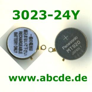 LiIon Panasonic Knopfzelle Akku Batterie CTL920F Lithium Ionen mit Fähnchen 34